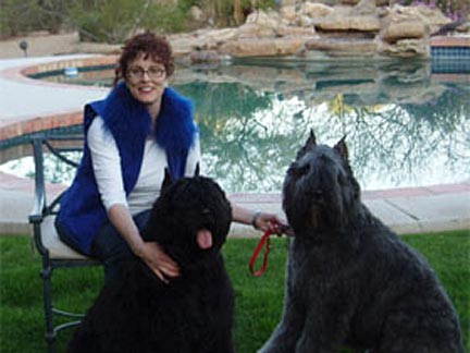 Robin Erlich with 2 dogs